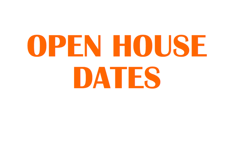 Open House & Orientation Schedules Thumbnail Image