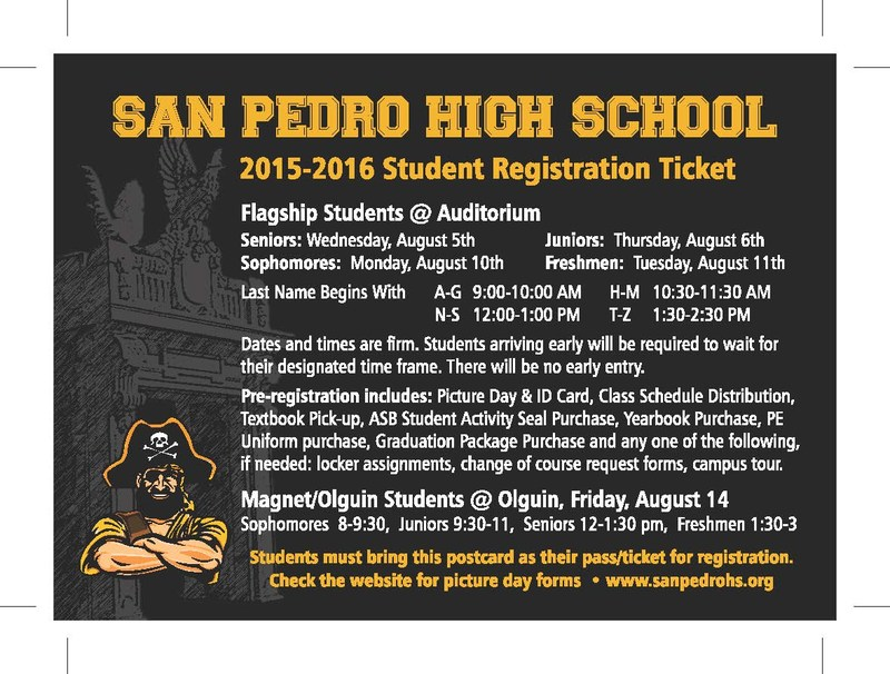 2015-2016 Student Registration Information and Attached Flyers with more Information to help you with a Successful School Year!