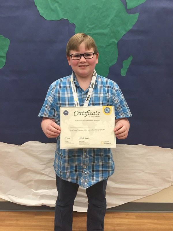 Austin Elementary fifth grader wins Campus Geography Bee