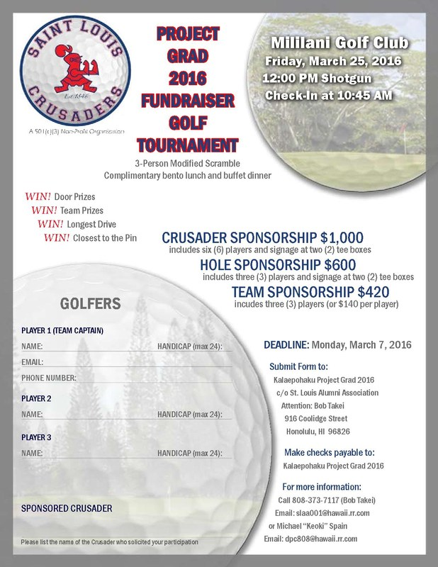 Project Grad 2016 Fundraiser Golf Tournament