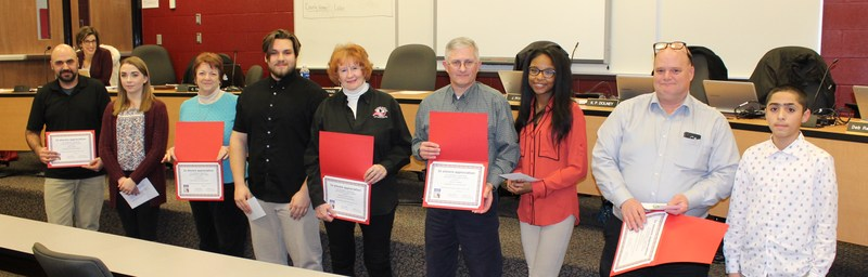 Board Members Get Recognized By Student Leaders At Board Meeting Thumbnail Image