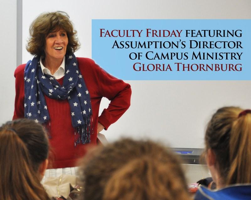 Faculty Friday Featuring Campus Minster Gloria Thornburg H'11 DMin