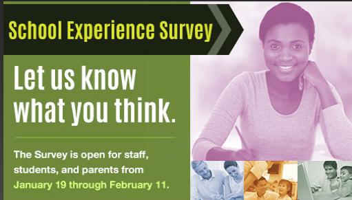 Take School Experience Survey Now!