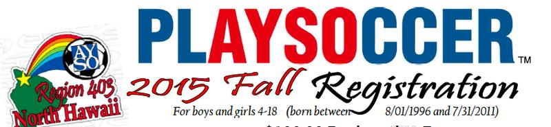 2015 Ayso Soccer Registration