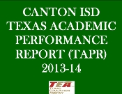 2013-14 TEXAS ACADEMIC PERFORMANCE REPORT (TAPR)