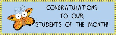 September Students Of The Month!