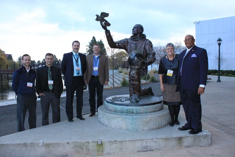 SCHOOL BOARD WITH MICHAEL ANDERSON STATUE Thumbnail Image