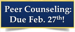Peer Counseling Applications - due Feb. 27th! Thumbnail Image