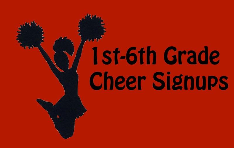2015 Cheerleading Sign-Ups 1st - 6th Grade