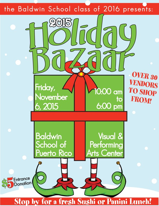 Vendor spaces are available for the Annual Holiday Bazaar