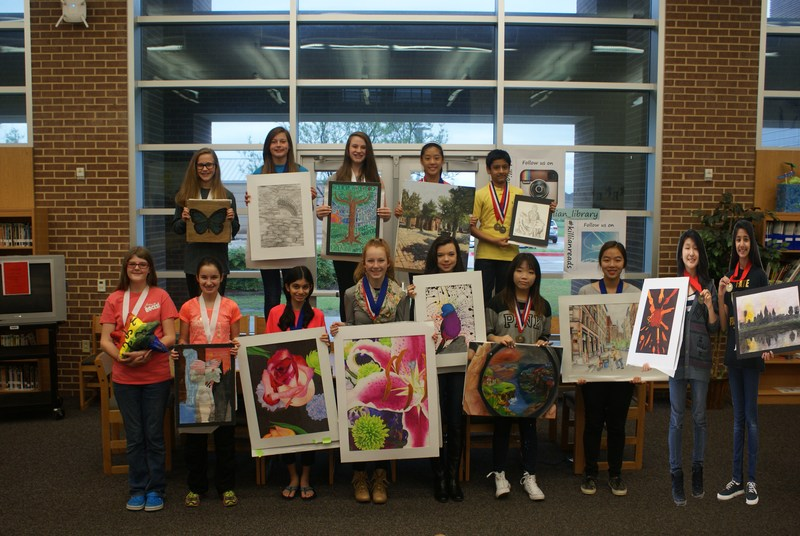 Congratulations to all of the students that competed in the Jr. Vase Art  Competition. All of the students that participated received the highest  score of a 4 in their division.