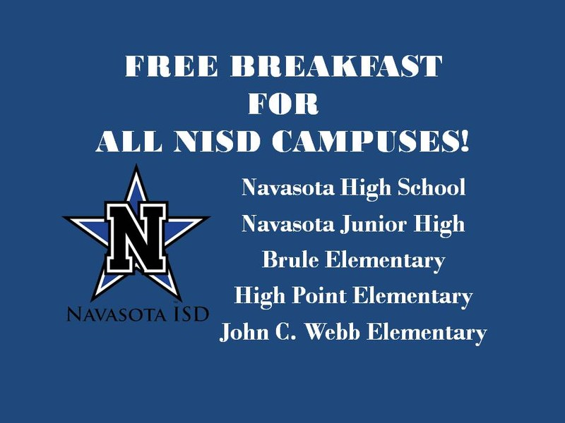 Cafeterias Offering Free Breakfast on ALL NISD Campuses!