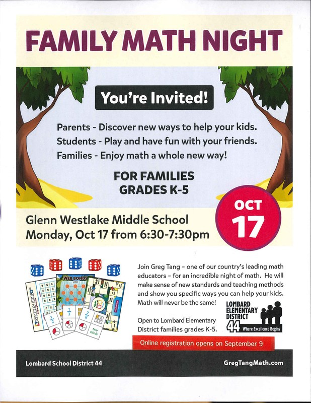 Register now for Greg Tang Family Math Night! Thumbnail Image