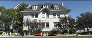 Erbin Hall Building with students.png