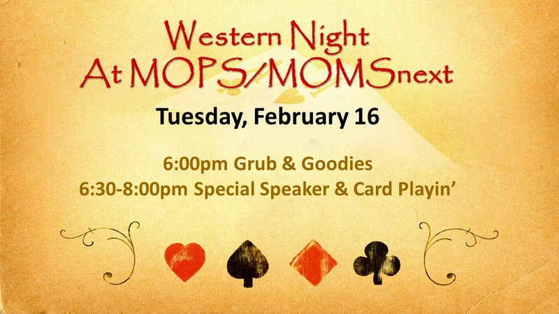 Western Night at MOPS/MOMSnext