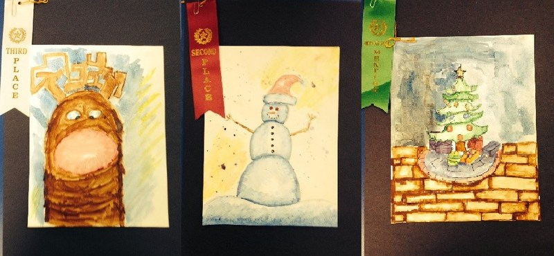 Three WJH Students Place in Christmas at Old Fort Concho Art Contest