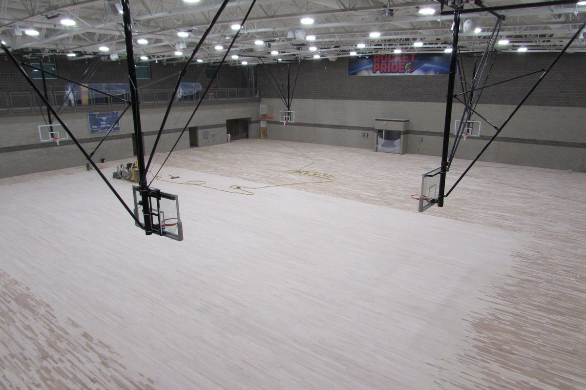 New Gymnasium under construction.