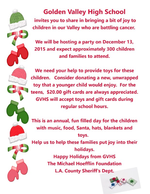 GVHS ASB Announces Toy Drive