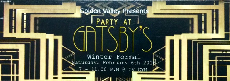 Winter Formal 2016-  Party at Gatsby's