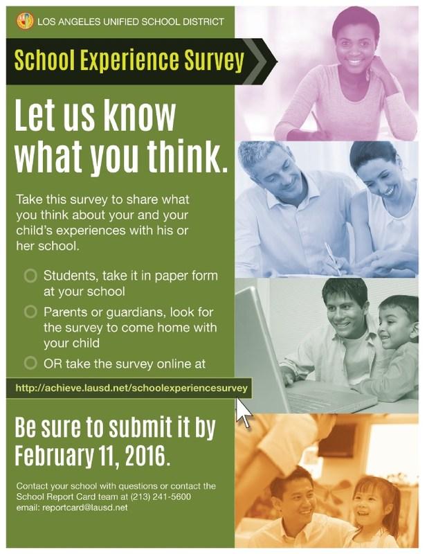 School Experience Survey 2015-2016
