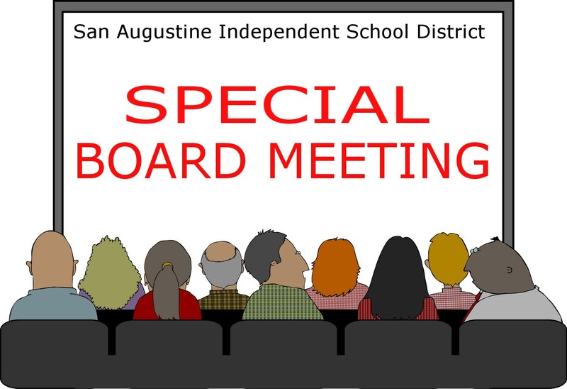 Special Board Meeting @ 12 noon on Tuesday, June 9th
