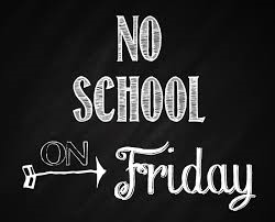 NO SCHOOL FRIDAY, September 30th Thumbnail Image