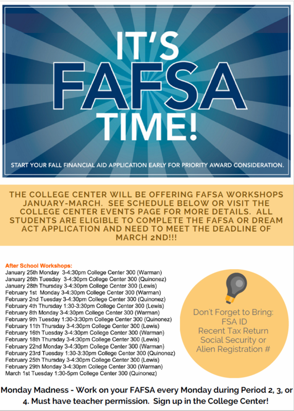 It's FAFSA time!!