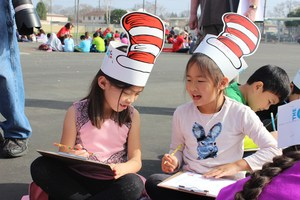 Students Participating in Read Across America Day