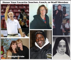 Honor a Teacher, Coach, or Staff Member
