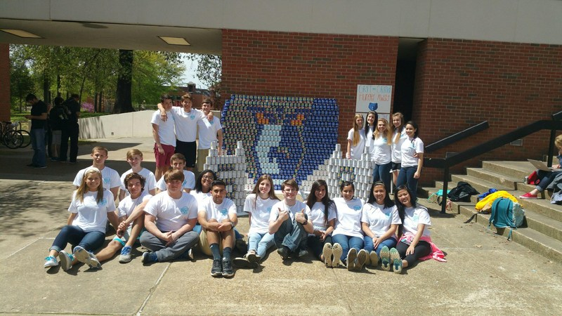 Bartlett High Canstruction Team Wins Awards