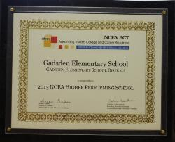 2013 NCEA Highly Performing School Recognition