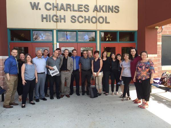 Akins welcomes Israelis & Palestinian educators