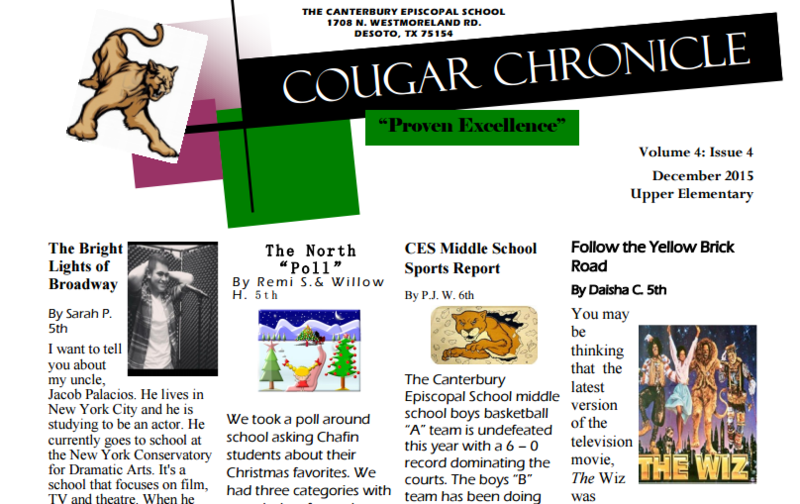 4th Edition of the Cougar Chronicle is out!