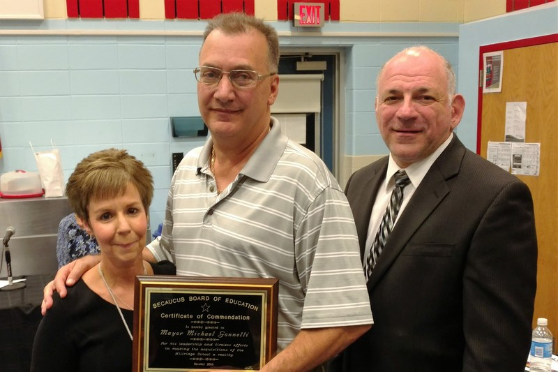 Mayor Mike Gonnelli Honored at the Board of Education Showcase of Success for His Efforts Towards Acquiring Millridge School Thumbnail Image