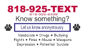 818-925-TEXT Text-a-Tip: NHHS Text Message Hotline