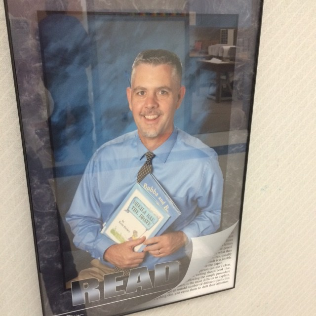 Staff at Sacajawea love to read! Pictures of our staff with their favorite books are displayed throughout the building - encouraging all students and community members to READ! Thumbnail Image