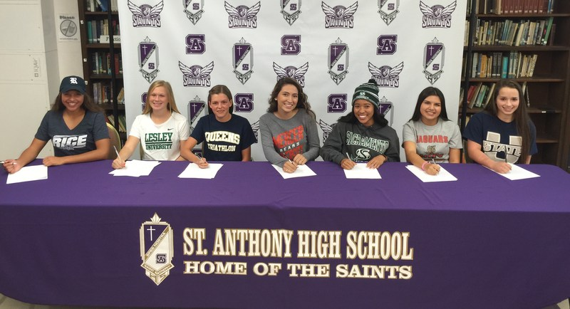 """Long Beach Post Feature: """"Seven St. Anthony High School Student Athletes Commit to National Universities"""""""