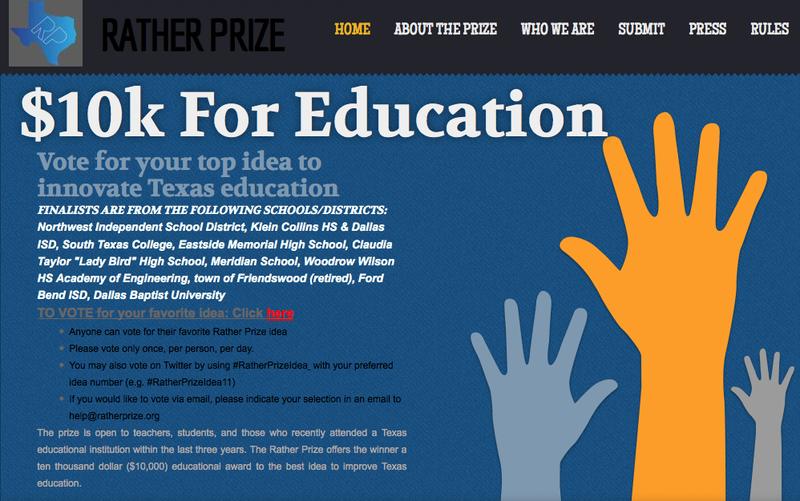 Rather Prize Finalist -- VOTE NOW!