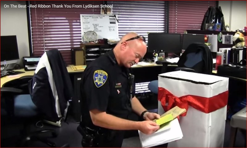 "Pleasanton PD Highlight Lydiksen during an ""On the Beat Segment"""