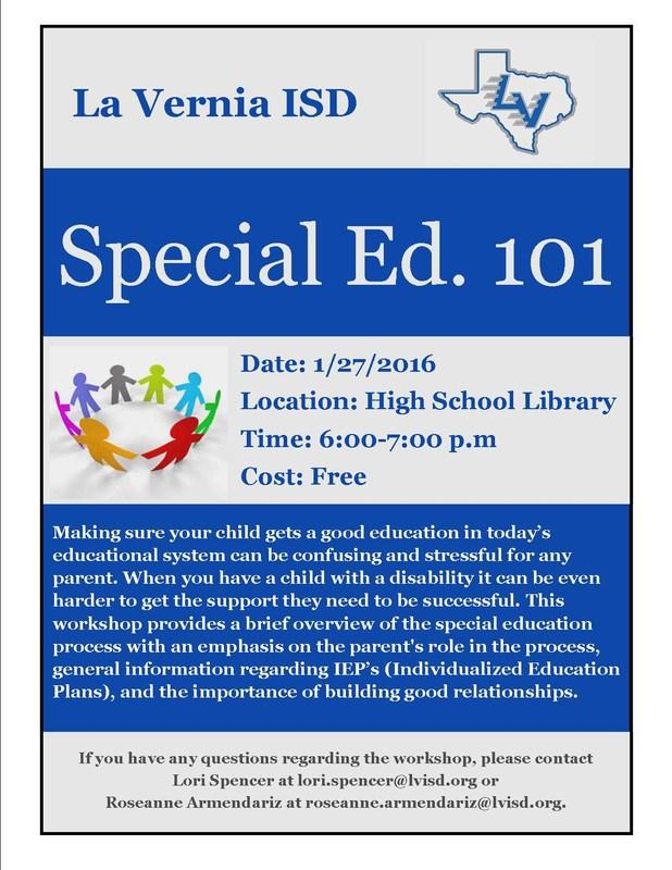 La Vernia ISD Special Ed 101