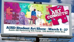 Akins student's winning art goes on billboards throughout the city!