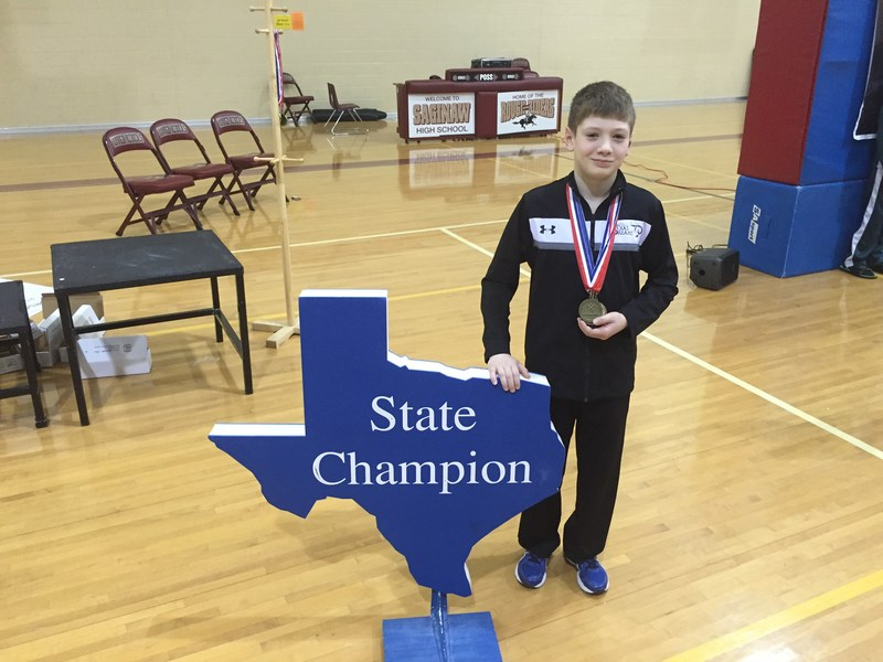 7th Grade Student Noah Boyd Wins State!