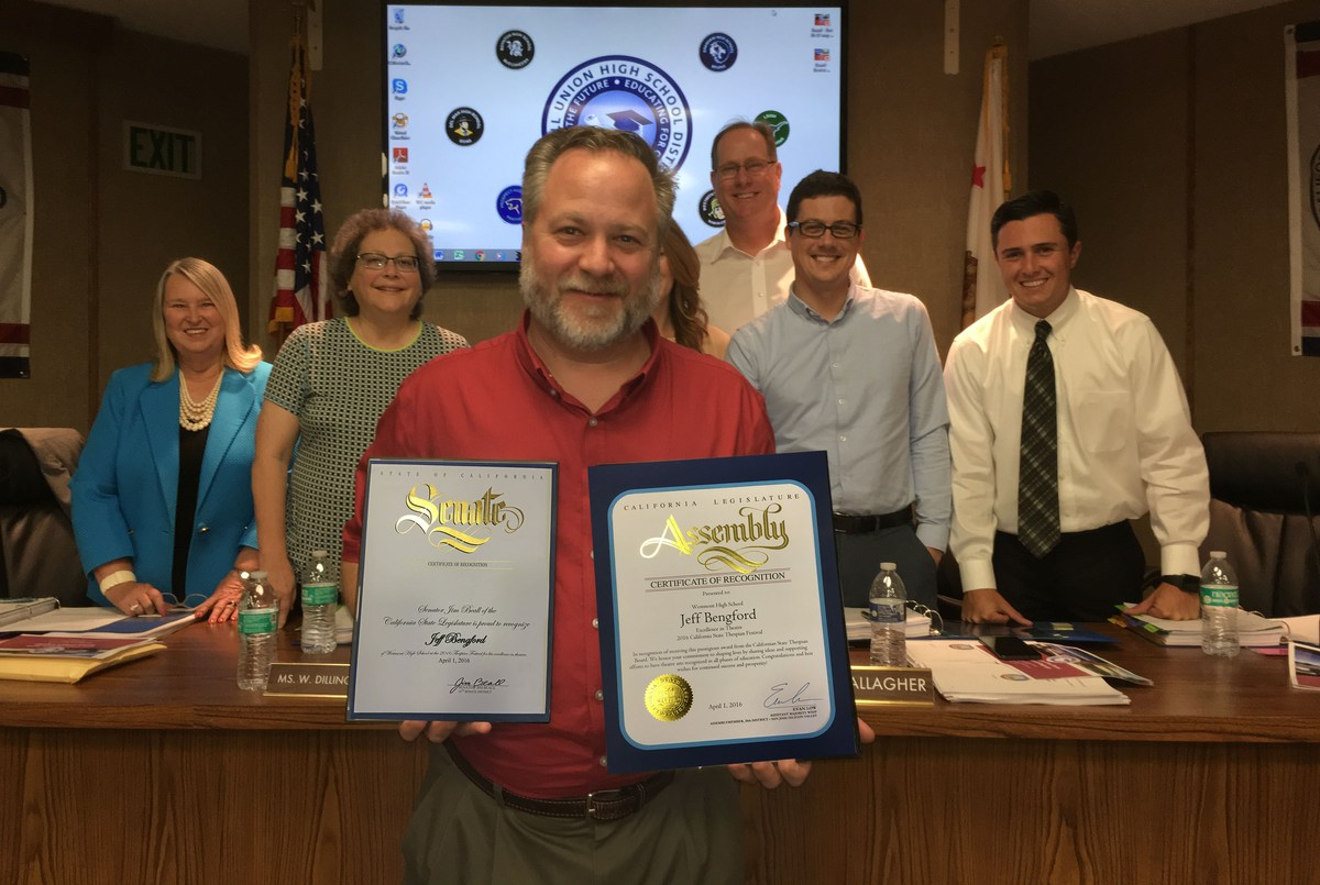 State of California Honors Westmont High Teacher Jeff Bengford