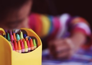 student coloring
