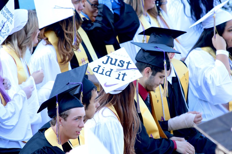Graduate's cap reads