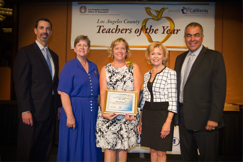 GV's 2015 Teacher of the Year, Julie Huffman, selected as LA County Teacher of the Year.