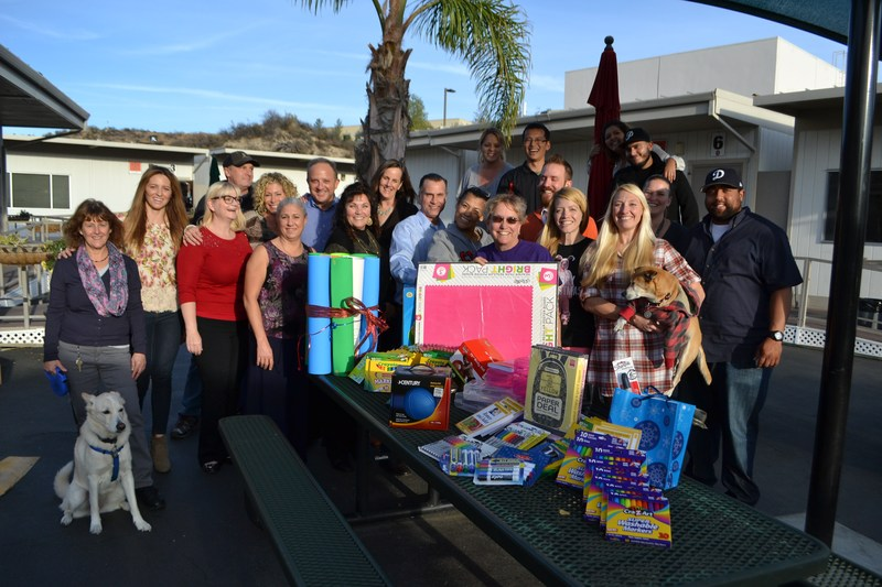 WiSH Education Foundation Board Members with their donate supplies at Sequoia