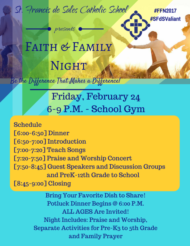 Join us for Spring 2017's Faith and Family Night Thumbnail Image