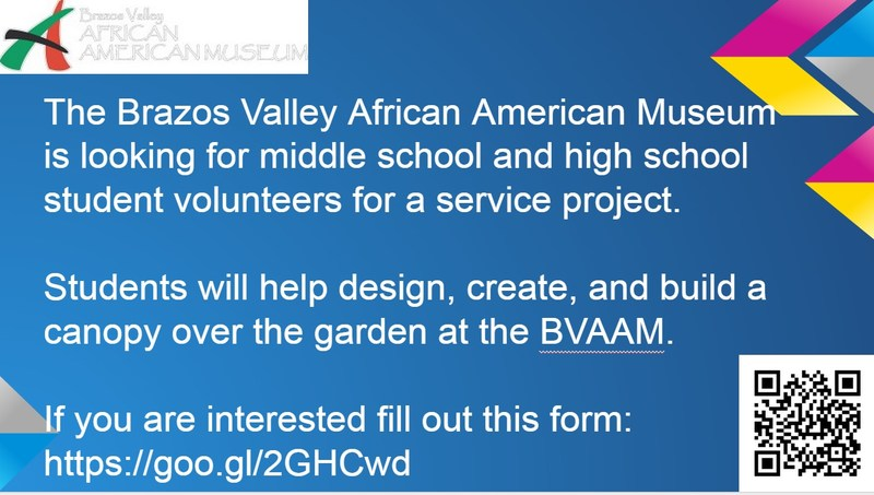 Brazos Valley African American Museum Student Project