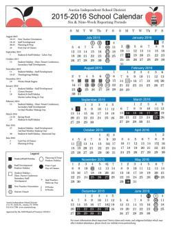 AISD 2015-2016 School Calendar